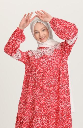 فستان أحمر 5223-01