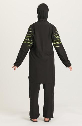 Schwarz Hijab Badeanzug 21223-01
