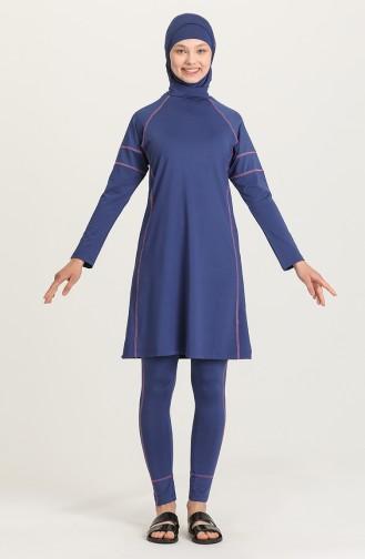 Indigo Hijab Badeanzug 21624-02