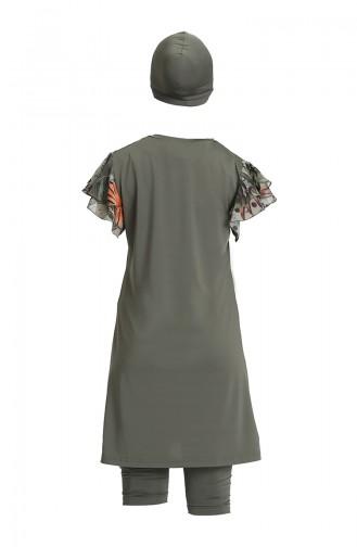 Khaki Swimsuit Hijab 21703-03