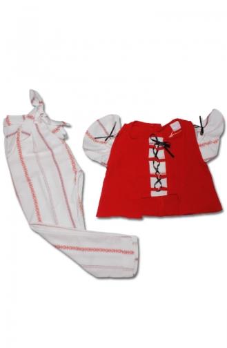 Ensembles Bébé et Enfant Rouge 5053-01