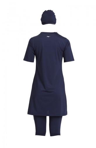 Navy Blue Swimsuit Hijab 21701-02