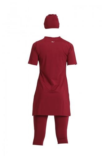 Claret Red Modest Swimwear 21701-03