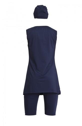 Dunkelblau Hijab Badeanzug 21800-02