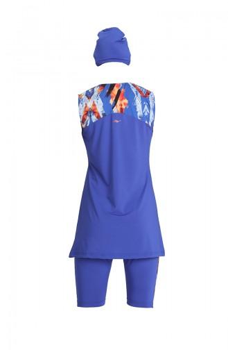 Saxon blue Swimsuit Hijab 21801-02