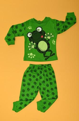 Ensemble de Pyjamas Bébé et Enfant Vert 80911-01