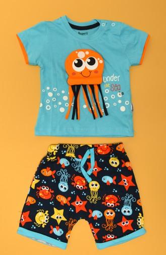 Blau Baby und Kinder Anzüge 80660-01