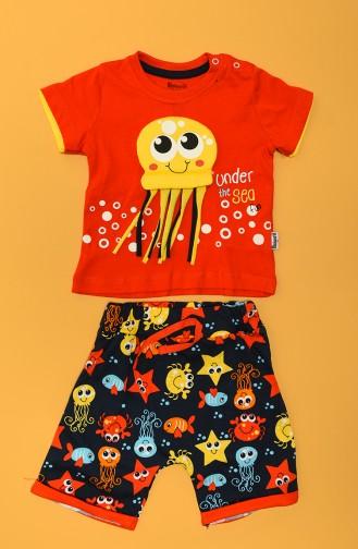 Rot Baby und Kinder Anzüge 80660-03
