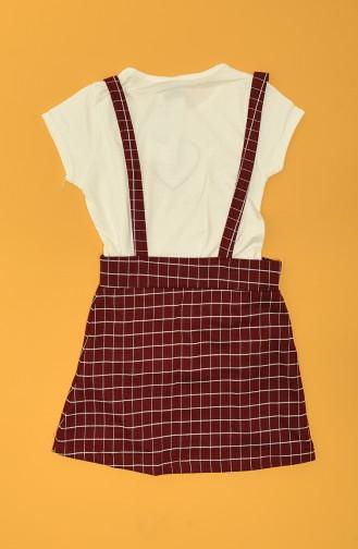 Claret Red Children`s Dress 75446-03
