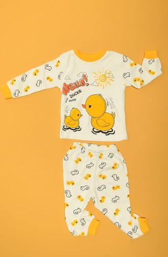 Ensemble de Pyjamas Bébé et Enfant Jaune 80907-01