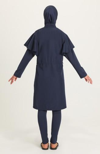 Navy Blue Swimsuit Hijab 21403-02