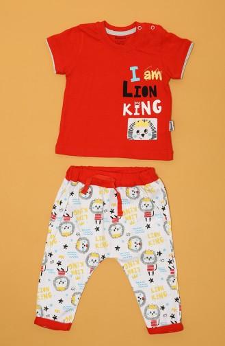 Ensemble de Pyjamas Bébé et Enfant Rouge 80666-01