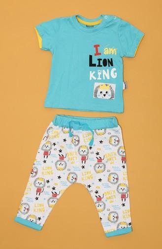 Blue Baby and Children`s Pajama Set 80666-02