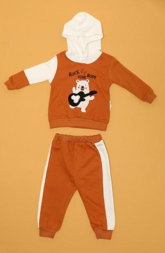 Orange Baby und Kinder Anzüge 81076-01