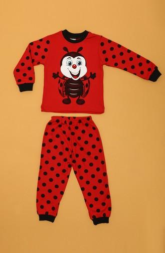 Rot Kinder und Baby-Pyjamas 80912-01