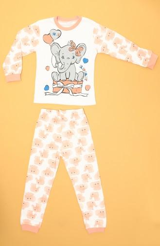 ملابس نوم للأطفال برتقالي 80938-01