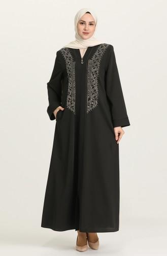 Black Abaya 1588A-02