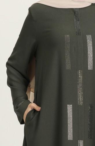 Khaki Abaya 8230-01