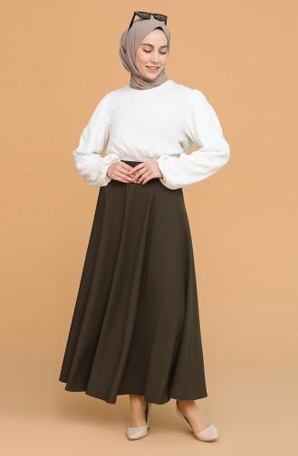Dark Khaki Skirt 1020214ETK-08