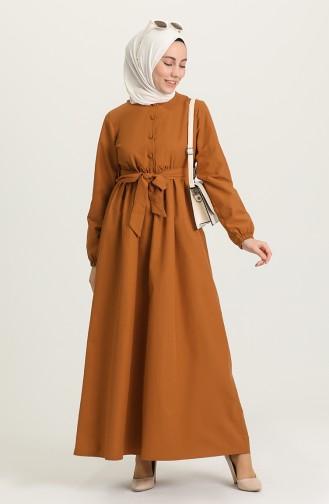 Robe Hijab Tabac 6890-03