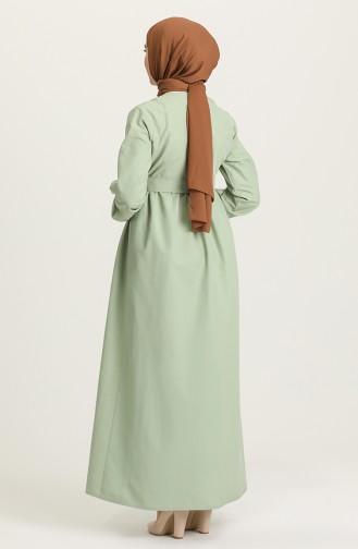فستان أخضر فاتح 6890-06