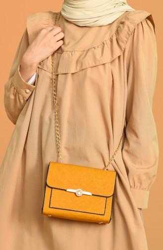 حقيبة كتف أصفر خردل 0031-03