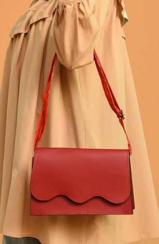 حقيبة كتف أحمر 0026-13