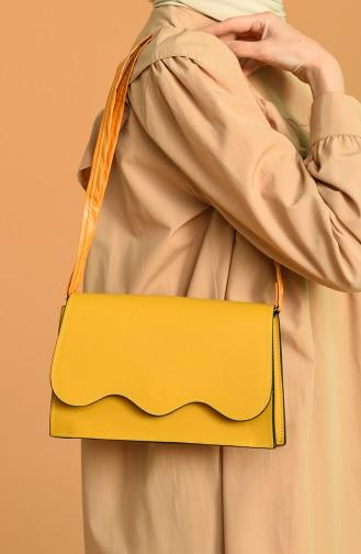 حقيبة كتف أصفر خردل 0026-18