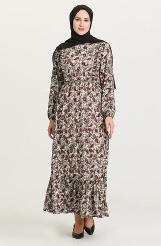 Robe Hijab Bordeaux 4576A-01
