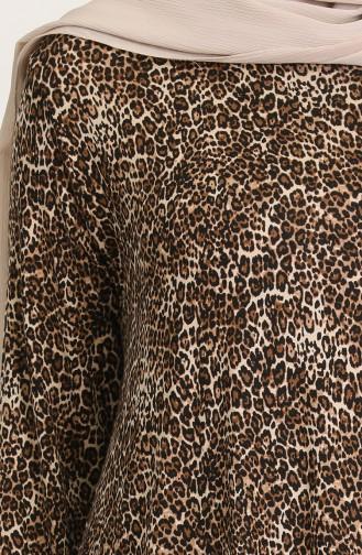 Leopar Desenli Elbise 2315-01 Leopar