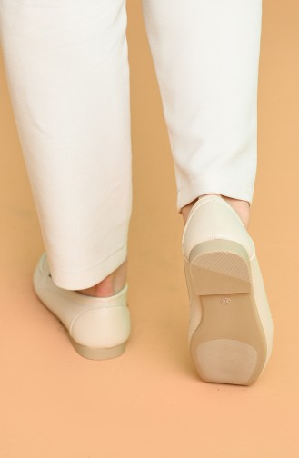 Beige Damen Ballerinas 0153-01