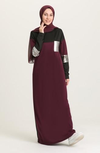 Purple Hijab Dress 4056-02