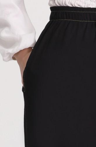 Saçaklı Kot Pantolon 3504-02 Siyah