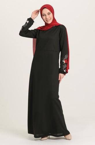 Black Hijab Dress 4009-01