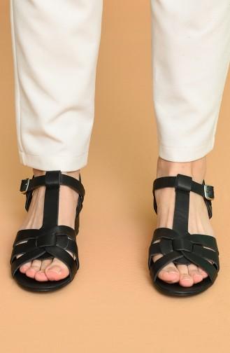 Schwarz Sommer Sandalen 5-15-08