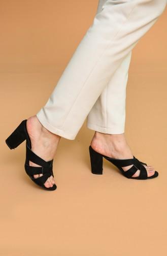 Black Summer Slippers 1362-17