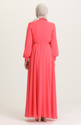 Rosa Hijab-Abendkleider 4826-15