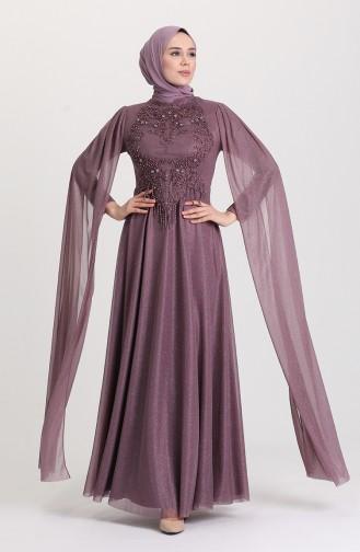 Habillé Hijab Lila Foncé 4868-06