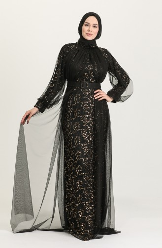 Habillé Hijab Noir 5441-05