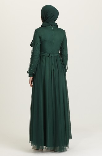 Smaragdgrün Hijab-Abendkleider 5514-03