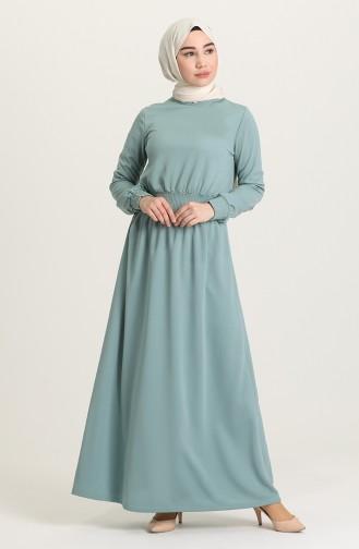 Unreife Mandelgrün Hijap Kleider 4008-03