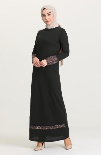 Black Hijab Dress 4172-03