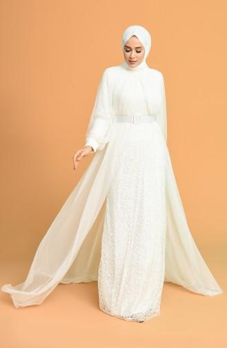 Habillé Hijab Ecru 5441-04