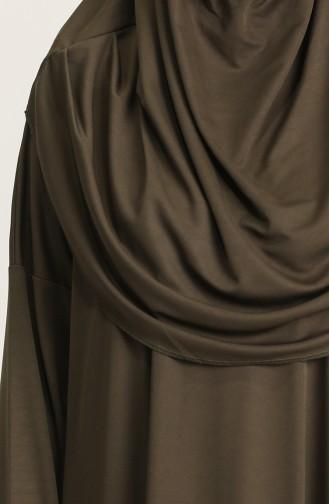 Sefamerve Çantalı Pratik Namaz Elbisesi 0900-07 Haki Yeşil 0900-07