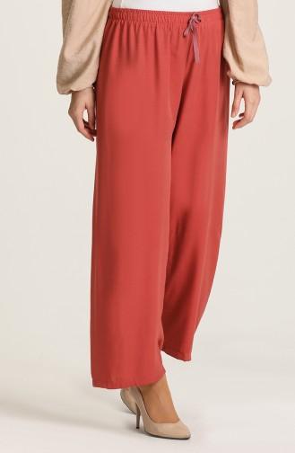 Pantalon Couleur brique 4420-05