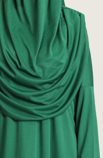Sefamerv Large size Practical Prayer Dress With Bag 0900B-04 Emerald Green 0900B-04