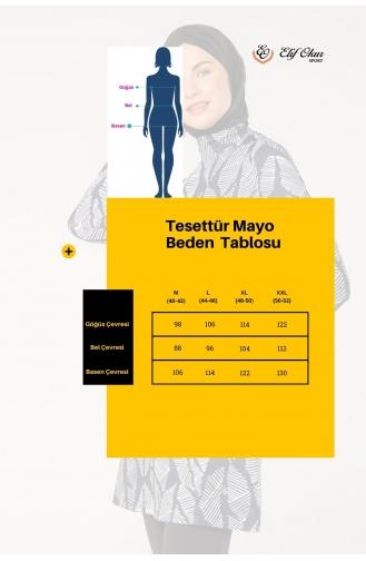 Tam Kapalı Mayo 7051-01 Lacivert 7051-01