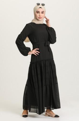 Robe Hijab Noir 4342-01