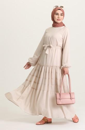 Robe Hijab Crème 4342-04
