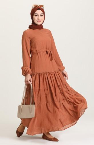 Robe Hijab Beige Foncé 4342-05